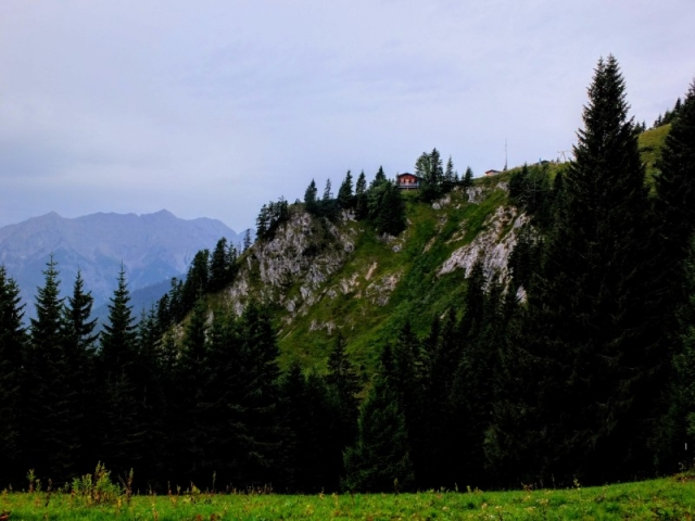 leaving Brunnenkopf Hut