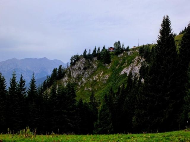 leaving Brunnenkopf Hut