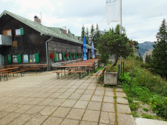 terrace at August Schuster Hut