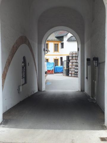 Kloster Ettal brewery yard