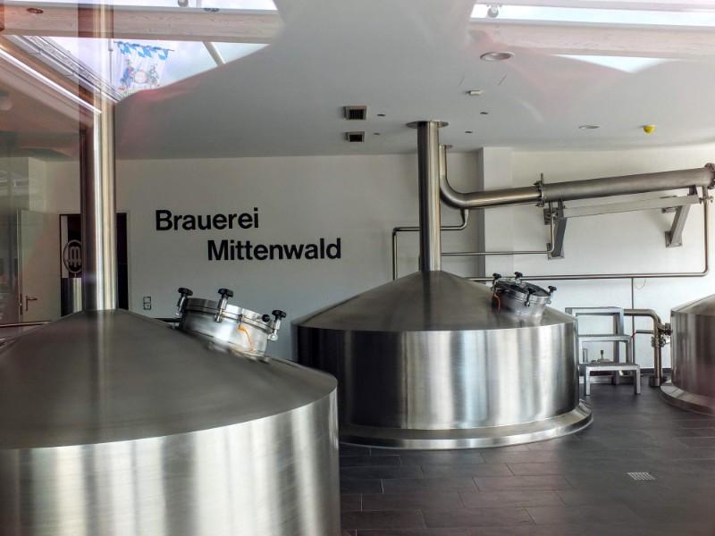 Brauerei Mittenwald brewhouse