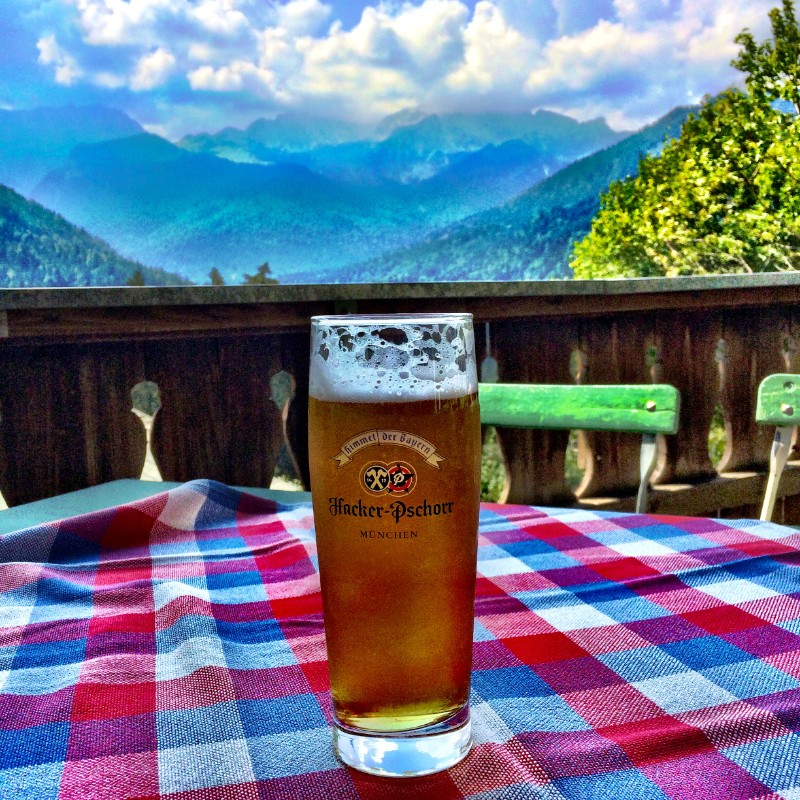 Beer at Mountain Alm