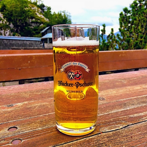 Hacker-Pschorr Helles at Brunnenkopf Hut