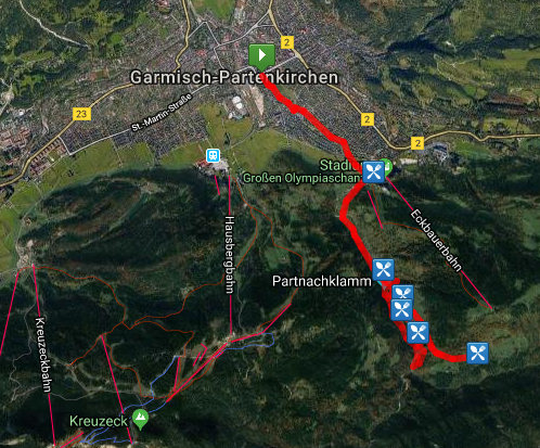 Hike Route - click for interactive route map