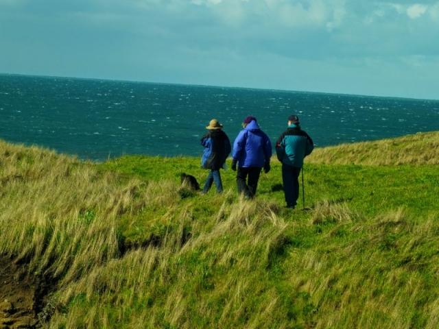 windy hike