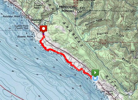 Sonoma Hike Route