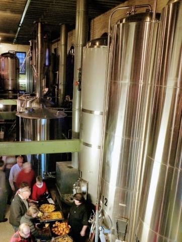Lancaster Brewing brewery floor