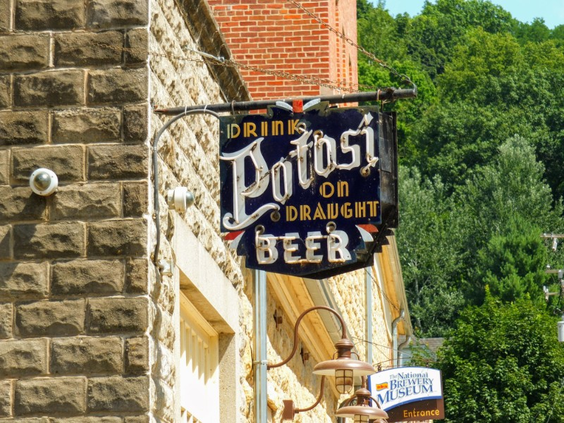 The museum incorporates a taproom serving Potosi beers