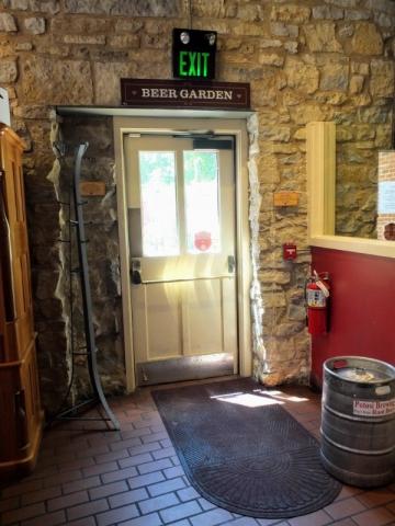 beer garden exit