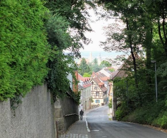 city street on the Stephansberg