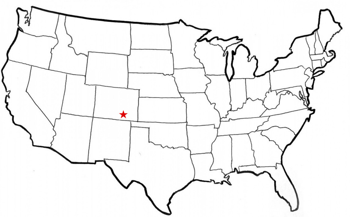 Spanish Peaks location map