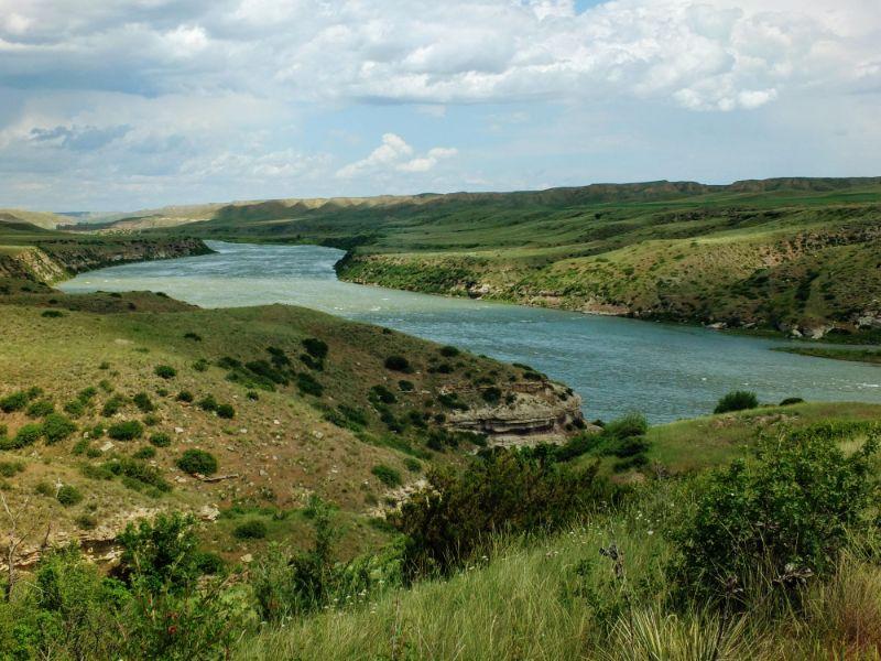Missouri River near trailhead