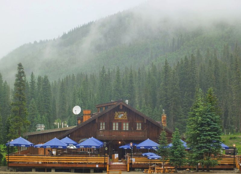 The Bavarian Restaurant in the rain