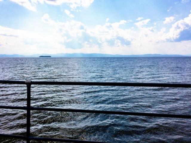 Adirondacks across the water