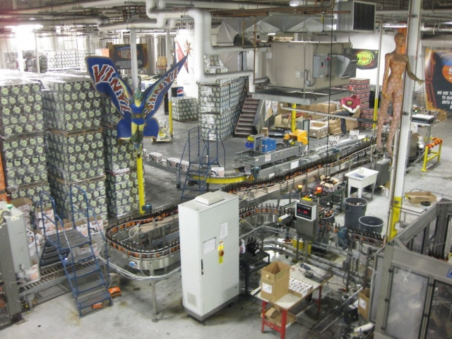 Magic Hat bottling line - image by Kaitlin