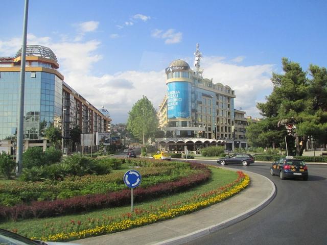 Central Podgorica (image by Avishai Teicher)