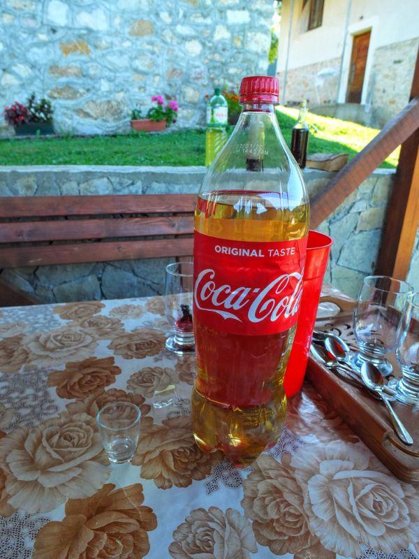 coke bottle re-used for rakija