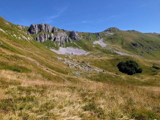 Crna Glava high on the ridge
