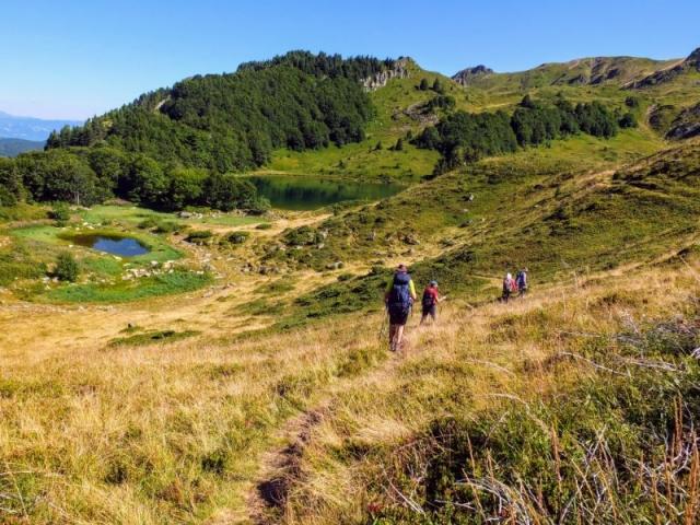 down to Lake Pešića