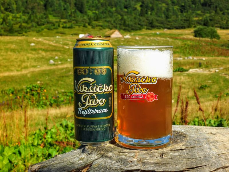 apres hike - Niksicko Unfiltered beer