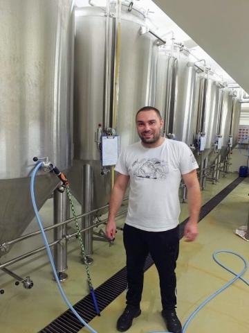 Brew master and chief technologist Bojan Beljkaš