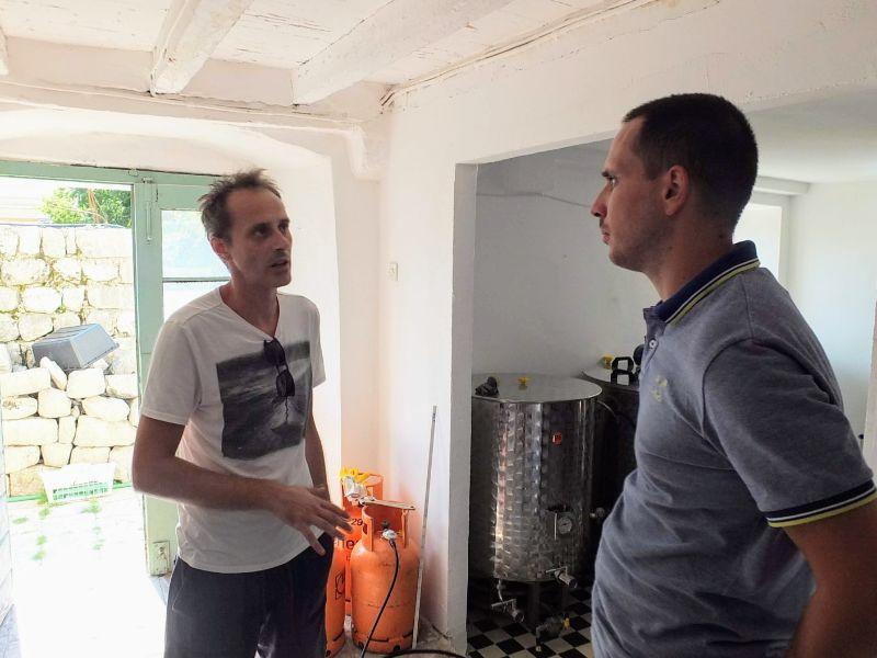 Fabrika's Krsto Ćuković with Slobodan Doknic (my guide)