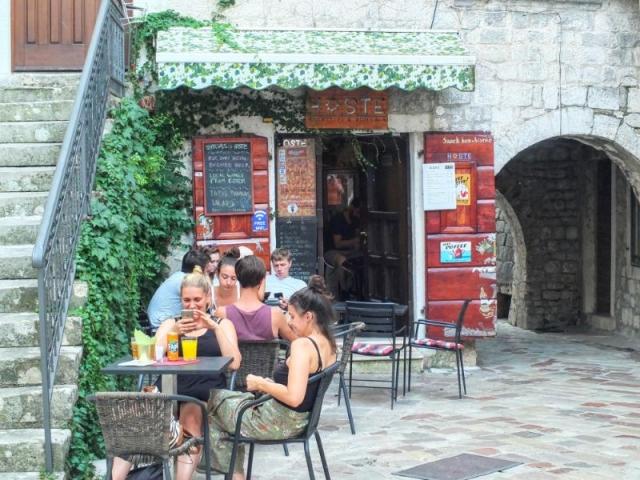 Hoste beer bar in Kotor