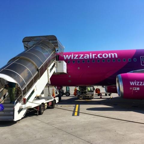 arriving on WizzAir