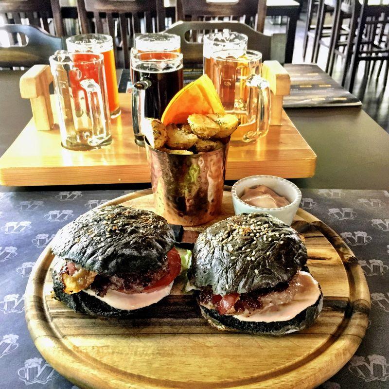 black bun sliders for lunch