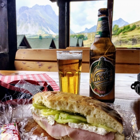 after-hike lunch and a beer