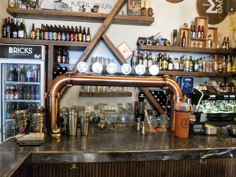Bricks' bar