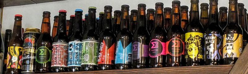 shelf of bottles
