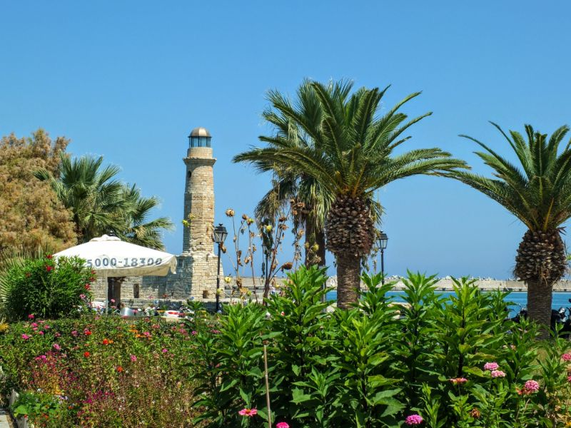 lighthouse at the old Venetian harbor