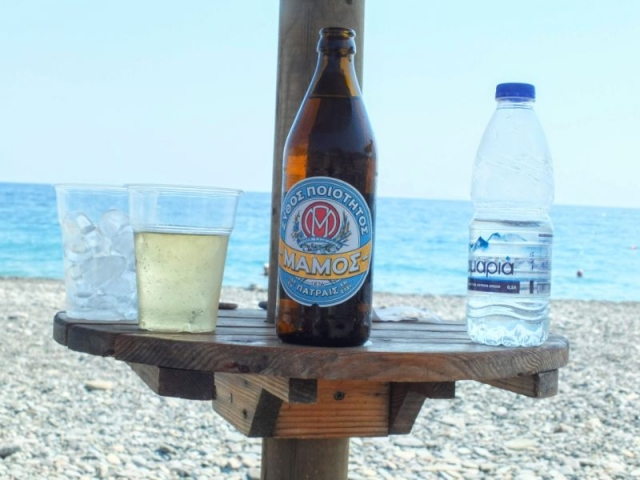 Mamos beer on the beach