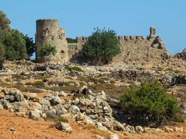 ruin of Turkish castle Koules of Loutro
