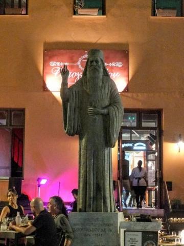 Statue of the Patriarch Athenagoras
