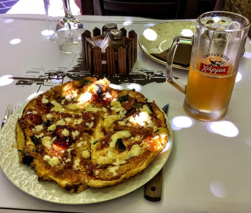 Cretan omelet