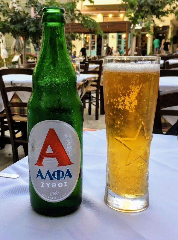 an Alpha beer along the way