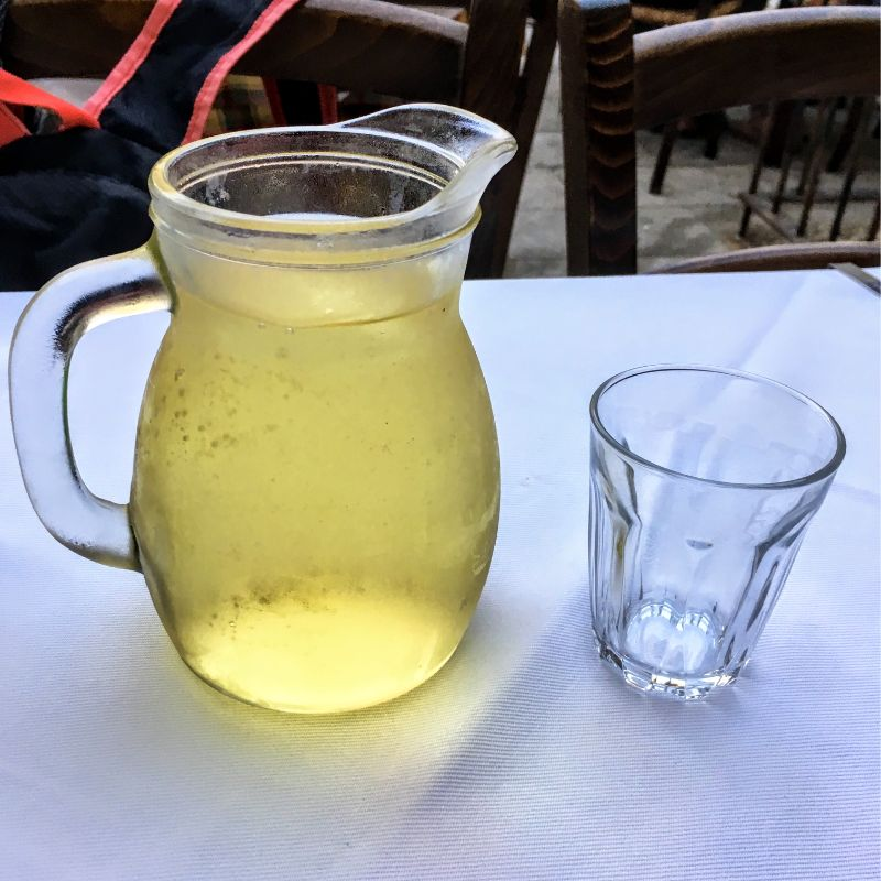 table wine by the pitcher