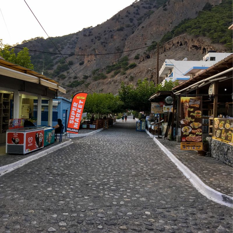 Street in Agia Roumeli village