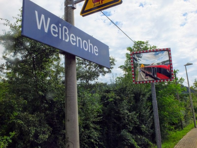 off the train at Weißenohe