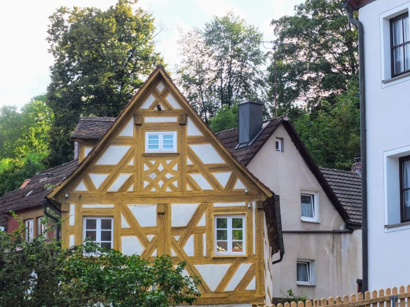 one of many half-timbered structures