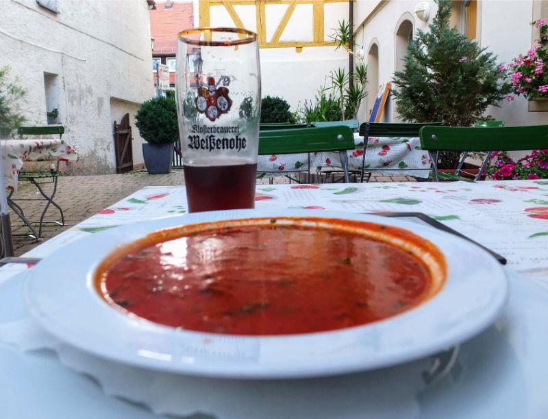 Klosterbrau Weißenohe Dunkel with a nice soup