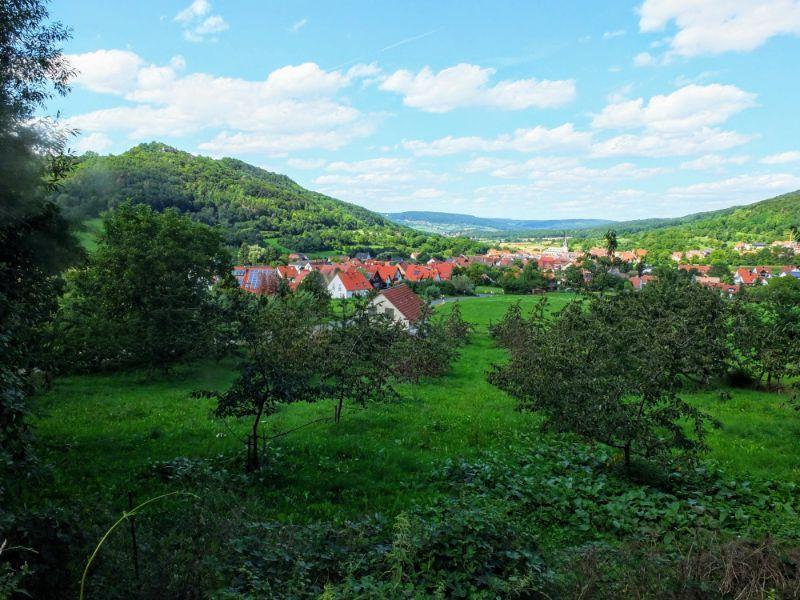 view down to Leutenbach