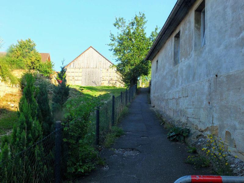 pathway through village