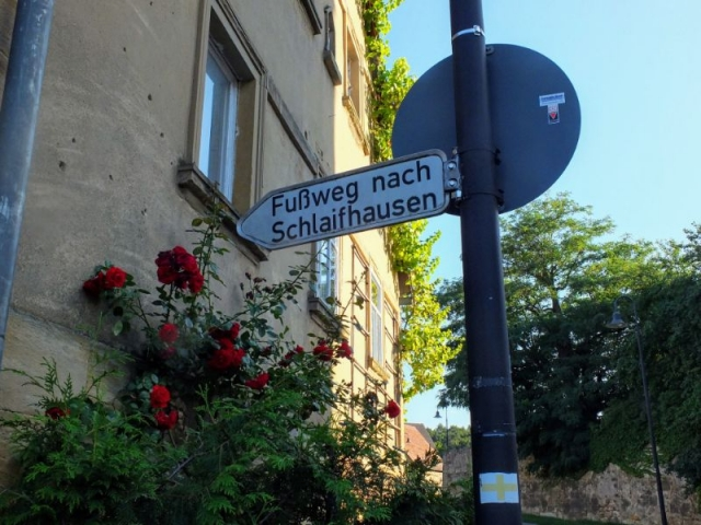 footpath approaching Schlaifhausen