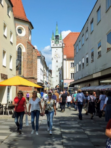 walking street with Gothic City Tower