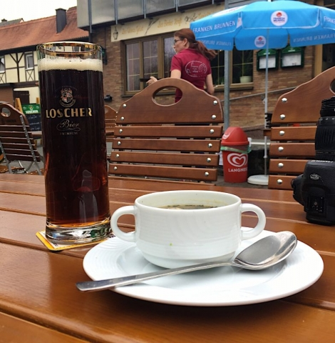 a stop for soup and a beer