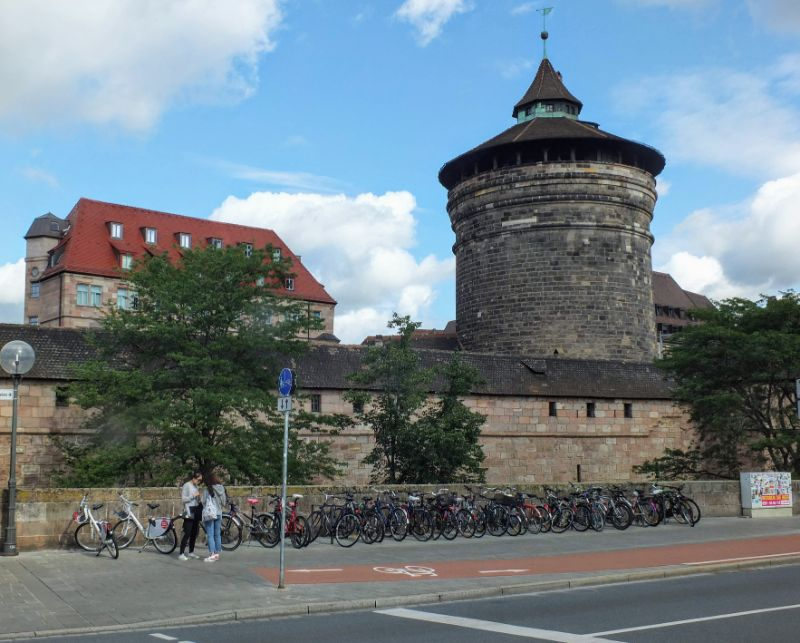 a tower along the castle wall