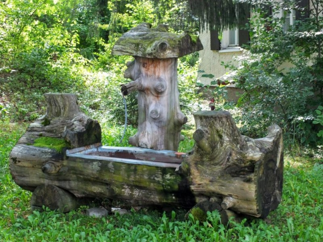 fountain along the path